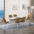 Toskano  Yemek Masası Takımı -Beyaz Mermerli Masa