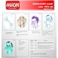 AWON 1401 FFP2 Maske N95 Filtreli Solunum Koruyucu 25 ADET