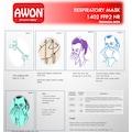 AWON 1402 FFP2 Maske N95 Filtreli Solunum Koruyucu 25 ADET