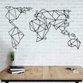 Tualist Dünya Haritası Metal Tablo