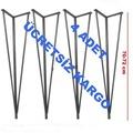 Metal Firkete Masa Ayağı 4 Adet 72 cmSiyah
