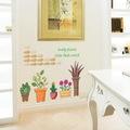 Saksıda Çiçekler Ev Salon Dekorasyonu Duvar Dekoru Sticker