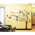 Fotoğraf Çerçeveli XL Kahverengi Ağaç PVC Sticker Duvar Dekor