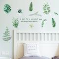 Orman Yeşillikleri Ev Salon Ofis Dekorasyonu Duvar Dekoru Sticker
