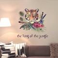 Ormanlar Kralı Kaplan Şekilli Ev Salon Duvar Dekorasyonu PVC Duva