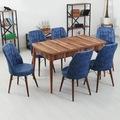 Azra Açılır Ahşap Mutfak Yemek Masa Sandalye Takımı