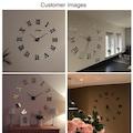 Modern DIY 3D Dekoratif Roma Rakamlı Sticker Duvar Saati -