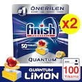 Finish Quantum 100 Tablet Bulaşık Makinesi Deterjanı Limon (50x2)