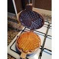 Döküm Waffle Tavası Ocak Üstü Waffle Tavası