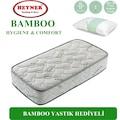 90X190 Heyner Bamboo Lüx Ortopedik Yaylı Yatak (YASTIK HEDİYELİ)
