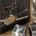 Kişiye Özel Kutulu Granit taşlı Viski Set