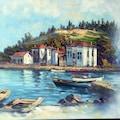 İstanbul Boğaz Yalı Manzaraları Orijinal Yağlı Boya Tablo
