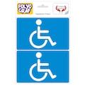 Engelli sürücü araç sticker. Yapışkanlı Folyo Etiket