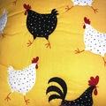El yapımı patchwork Horoz Motifli Yastık