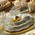 Kütahya Porselen Milena Krem Fileli 24 Parça Yemek Takımı