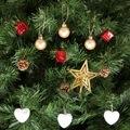 KBK Market Yılbaşı Çam Ağacı Beyaz Kalpli Süs Seti 13'lü