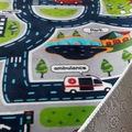 Kesme Halı - Çocuk Odası Kaymaz Yolluk-Trafik Desenli Oyun Halısı