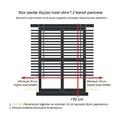 Arap Kızı Dijital Baskı Piliseli Zebra Stor Perde