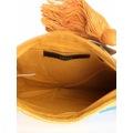 Roman Papağan İşlemeli Renkli Çanta
