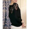 Kadın Siyah Dantelli Bluz