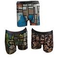Renkman Desenli Licralı Erkek Boxer 3lü - Asorti Desenler