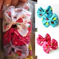 İngodi 10 Adet Kız Bebek Renkli Lastik Kurdela Toka Seti