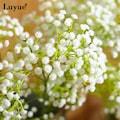 Yapay Çiçek Cipso Beyaz Aradal Garnitür Gelin Çiçeği Demeti