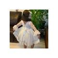 Beyaz dantelli kız çocuk elbise