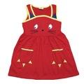 Kız Çocuk Kedi Baskılı 1-5 Yaş Elbise