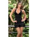 Sıradışı Seksi Süper Mini Siyah Kokteyl Elbisesi - 2 RENK