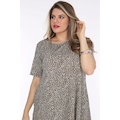 Schık Kadın Büyük Beden Cepli Tunik Elbise Desenli 3268