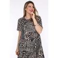 Schık Kadın Cepli Tunik Elbise Desenli 3278