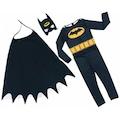 Batman Çocuk Kostümü - Maskeli Pelerinli Batman Kostümü Betmen Ço