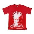 Atatürk Baskılı Tişört Kırmızı Beyaz Mavi Sarı Çocuk Tişört