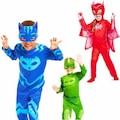 Pijamaskeliler Pjamask Kostümü Kedi Çocuk Baykuş Kız Kertenkele