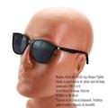 Daniel Klein Erkek Güneş Gözlüğü Polarize Lensli Kare Siyah Kırmı