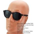 Daniel Klein Erkek Güneş Gözlüğü Polarize Yuvarlak Lensli Siyah L