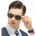 Damla Polarize Erkek Güneş Gözlüğü Metal Unisex Gözlük LN001