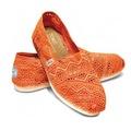 TOMS Bayan Espadril Neon Coral Crochet