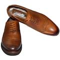 Büyük Numara Ayakkabı Bağcıklı Premium Deri 1703 Taba