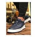 Chekich 040 Erkek Beyaz-Siyah Spor Ayakkabı -Günlük Yazlık Yüksek