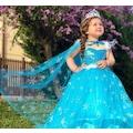 Elsa Kostümü Frozen Anna Simli Askılı Tarlatanlı Dogumgünü Party