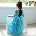 Frozen Elsa Kostümü 5-7 Yaş Çocuk Kostümü - Pelerinli