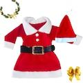 Kız Çocuk Noel Baba Kostümü, Yılbaşı Kostümü, elbise