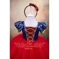 Pamuk Prenses Elbisesi Kırmızı Etekli