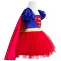 Super Hero Dc Girl Kostümü Kırmızı Etekli