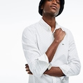 Lacoste Erkek Slim Fit Desenli Beyaz Gömlek BASKILI CH4877.522