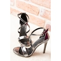 Platin Kadın Topuklu Ayakkabı H283291234