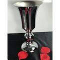 Söz Nişan Sunum Masası Set Üçlü Gümüş Yuvarlak Metal Vazo