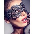 Merry See Yarasa Tasarım Taşlı Dantel Göz Maskesi